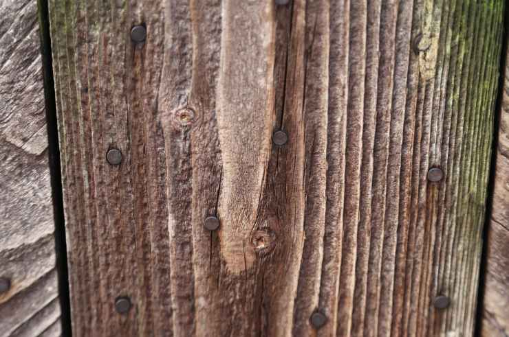 this image shows douglas fir fence in Fullerton, California