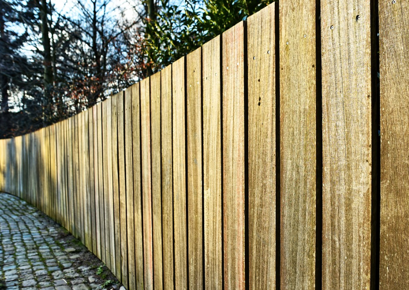 this image shows pine fence in Fullerton, California